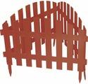 """Забор декоративный Palisad """"Винтаж"""", цвет: терракоторвый, 28 см х 3 м"""