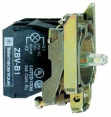 Корпус кнопки 22мм 24в с подсветкой zb4bw0b45 Schneider Electric, ZB4BW0B45
