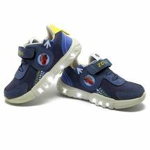 Светящиеся LED кроссовки детские J&G синие 21