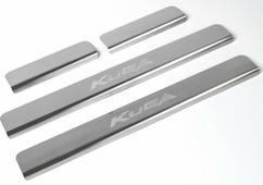 Накладки на пороги Rival для Ford Kuga II 2013-2016 2016-н.в., нерж. сталь, с надписью, 4 шт. NP.1806.3