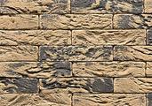 Декоративный искусственный камень Феодал Кирпич Арлонский угловой литой 25.32.(26), Горчичный