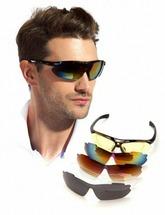 Очки спортивные солнцезащитные черные (5 сменных линз) Bradex SF 0156