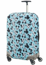 Чехол для чемодана средний Samsonite 47C*001 Travel Accessories Luggage Cover M *01 Mickey/Minnie Blue