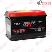 Автомобильный аккумулятор MAFF Premium (72 A/h), 750А R+ высокий