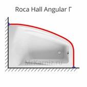 Карниз для ванны Roca Hall Angular Г 150 (Рока)