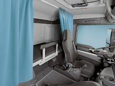 Комплект автоштор Эскар Blackout - auto SK, голубой, 2 шторы 120 х 160 см, гибкий карниз 3 м