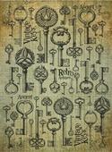 Декупажная карта Craft Premier Ключи ретро