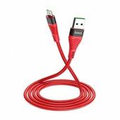 Кабель Micro USB для зарядки телефона и синхронизации данных, Hoco U53 4A 1,2м, цвет красный