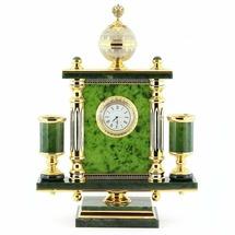 """Часы """"Держава"""" камень нефрит R113526"""
