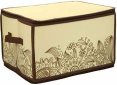 "Короб для хранения Handy Home ""Цветы"", складной, 30 х 40 х 25 см"