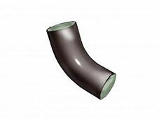Колено (отвод) водосточной трубы Grand Line Optima 125/90 круглое сечение, 60 град., темно-коричневый