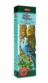"Лакомство Padovan ""Овощные"", для волнистых попугаев, палочки, 2 шт х 60 г"