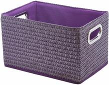 """Короб для хранения """"Handy Home"""", складной, без крышки, цвет: лиловый, 31 х 22 х 19 см"""