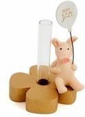 """Подсвечник Русские подарки """"Год свиньи"""", на 1 свечу, 15 х 8 х 8 см"""