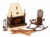 Огонек Набор мебели для кукол Коллекция для каминной комнаты
