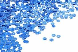 "Пайетки плоские ""Ideal"", цвет: синий (5), 6 мм, 50 г"