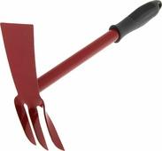 """Мотыга """"Усадьба-люкс"""", с ручкой, цвет: черный, бордовый, 31 х 18 х 6 см"""