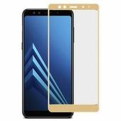 Shemax Защитное стекло для Samsung A7 2018 Full Screen, золотой цвет