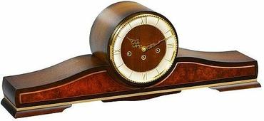 Настольные часы Каминные часы Hermle 21152-030340 в старинном стиле, ореховое дерево, Westminster 4/4, отключение звука.