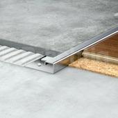 П профиль для плитки из нержавеющей стали 12мм шлифованный 270 см