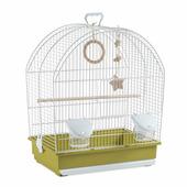Клетка Voltrega для птиц 25,5*41*48см, бело-зеленая