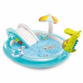 Детский надувной центр-бассейн Малыш Аллигатор Intex 57165 с горкой