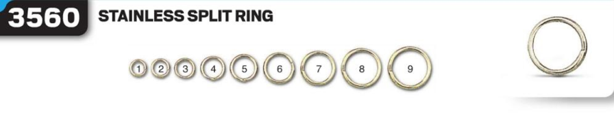 Заводные кольца VMC 3560 SPO № 7 (нерж. сталь) 10,0мм, тест 18кг 9шт/уп