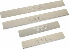 "Накладки для порогов ""DolleX"", для Opel Astra (<-2013), Zafira (<-2013), Meriva, Insignia (<-2013), 4 шт"
