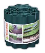 Бордюрная лента волнистая зеленая, высота 25см, длина 9м