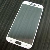для Samsung A7 2017 Защитное стекло Ainy Full Screen Cover 2,5D 0,33 мм белое