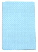 """Ткань Кустарь """"Мелкий горошек"""", цвет: голубой, 48 х 50 см. AM555019"""