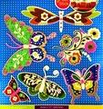 Наклейки Room Décor Неоновые со стразами 30,5х30,5см ПВХ, Бабочки