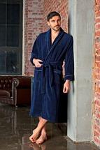Халат мужской DANIEL темно-синий бамбуковый
