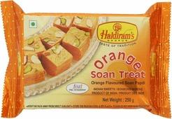 Индийские сладости Soan Papdi ORANGE Haldirams (Соан папди с апельсином, Халдирамс), 250 г.