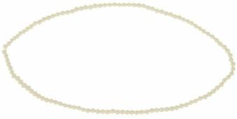 """Бусины стеклянные на нити """"Zlatka"""", цвет: светло-кремовый, диаметр 4 мм, длина нити 40,6 см"""