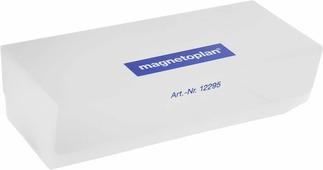 """Стиратель магнитный """"Magnetoplan"""" со сменными салфетками, цвет: серый"""