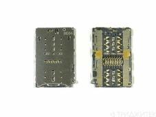 Коннектор SIM+MMC Huawei Honor 7/Honor 8/P9/P9 Lite/P9 Plus/Honor Play/Meizu M3E