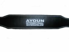 Пояс штангиста кожаный широкий 15 см M чёрный