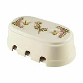 Распаечная коробка большая, розовые цветы, золотистая фурнитура, КР6РЗ леанза
