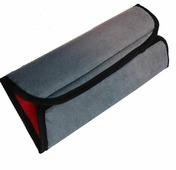 """Накладка-подушка на ремень безопасности двухсторонняя """"Auto Premium"""", цвет: серый, красный. 77158"""