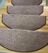 Коврик для лестницы - Пальмира коричневый 27х75 см/