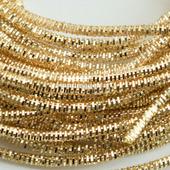 Канитель трунцал, Светлое Золото, 1,5 мм