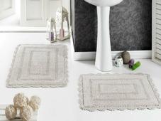 """Набор ковриков для ванной Karna """"Modalin. Evora"""", цвет: бежевый, 2 шт"""