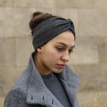 Шерстяная полоска (повязка) на голову Friend Function Графитовая