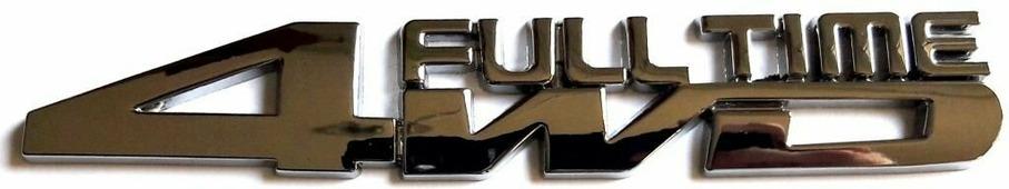 """Наклейка металлическая """"4WD FT"""" (шильдик), серебряная, размер 2,5*15 см"""