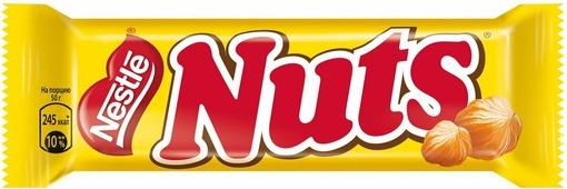 Nuts шоколадный батончик, 50 г