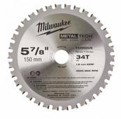 Диск по металлу для циркулярной пилы MILWAUKEE 150x20x34Z (1 шт.) 48404080