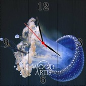 """Настенные часы """"морская красавица"""""""