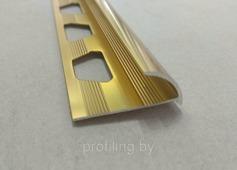 Полукруглый угол для плитки 9мм, золото глянец 270 см