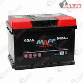 Автомобильный аккумулятор MAFF Premium (60 A/h), 640А R+ низкий